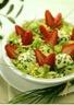 Salade aux fraises et chèvre frais