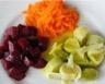 Salade composée aux betteraves carottes et poireaux