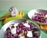 Salade craquante aux noix de Grenoble et au crottin de chèvre cendré Rians