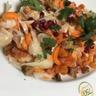 Salade croquante de légumes printaniers sauce césar
