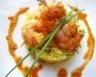 Salade crue de mangue et courgette et ses crevettes au curry