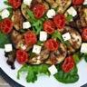 Salade d'aubergines grillées au balsamique tomates confites et feta