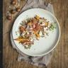 Salade d'automne au jambon cru Aoste