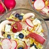 Salade d'endives magret séché et vinaigrette mandarine