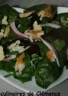 Salade d'épinards maquereaux parmesan et betterave