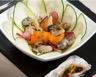Salade d'huîtres de Normandie tièdes et sauce soja