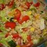 Salade de blé au concombre et au poivron