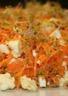 Salade de carottes râpées aux pousses de moutarde et à la feta
