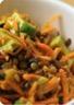 Salade de carottes râpées lentilles et avocats
