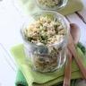 Salade de céréales au poulet et aux légumes