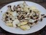 Salade de champignons de Paris parmesan et pomme verte