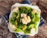 Salade de chou-fleur brocolis et petits pois