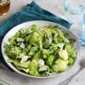 Salade de courgettes fèves avocat roquette et parmesan