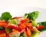 Salade de crabe aux kiwis et pamplemousse