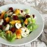 Salade de crevettes framboises et nectarine