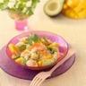 Salade de crevettes mangue avocat et noix de coco