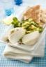 Salade de crottin de chèvre aux concombres et menthe fraîche