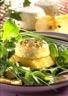Salade de crottin de chèvre sur pommes