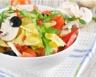 Salade de Farfalle minceur aux champignons tomates et poivrons