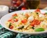 Salade de farfalle tomates et mozzarella