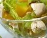 Salade de fromage de chèvre frais et pêches