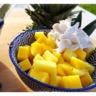 Salade de fruits exotiques à la chantilly de lait de coco