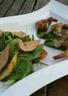 Salade de gambas et foie gras