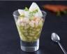 Salade de haricots blancs cabillaud et pesto de roquette
