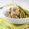 Salade de haricots verts et quinoa aux tomates confites et coriandre