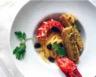Salade de homard à la mangue galette de riz basmati au curry doux
