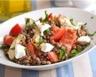 Salade de lentilles au chorizo artichauts tomates et feta
