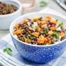 Salade de lentilles carottes & oignon rouge