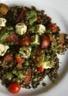 Salade de lentilles sauce à la roquette