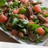 Salade de mâche au pamplemousse et aux figues