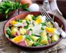 Salade de mâche aux pommes de terre et jambon