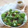 Salade de mâche clémentines et magret séché