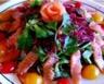Salade de mâche saumon fumé