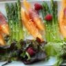 Salade de melon et asperges vertes à la framboise