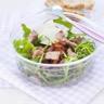Salade de mesclun aux lardons d'agneau et tomates séchées