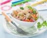 Salade de pâtes au jambon et petits légumes