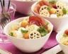 Salade de pâtes au melon jambon et mozzarella