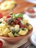Salade de pâtes au pesto et à la mozzarella