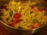 Salade de pâtes au poulet et au pesto