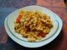 Salade de pâtes au poulet et légumes d'été