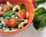 Salade de pâtes aux tomates cerises épinards et ricotta