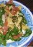 Salade de pâtes courgettes roquette et au parmesan