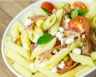 Salade de pâtes melon tomates mozzarella et jambon fumé