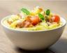 Salade de pâtes pancetta mozzarella et olives noires