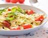 Salade de pâtes tomates feta et roquette