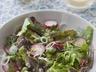 Salade de petits pois frais au mesclun
